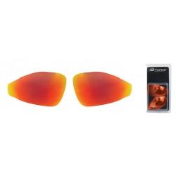 Náhradní skla do brýlí FORCE PRO - červená laser