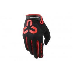 Rukavice CTM GIPPER - celoprstové, červená, vel. M