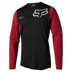 Dres Fox Attack Pro Long Sleeve MTB Jersey - černá/červená vel. XL