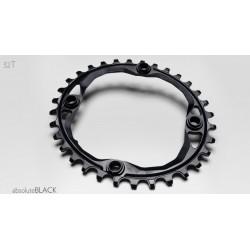 Převodník ABSOLUTEBLACK 34T BCD 104 oval - černá