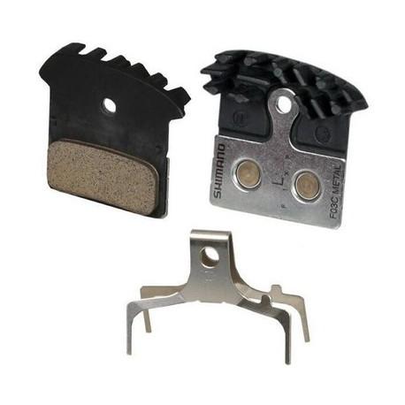 Brzdové destičky SHIMANO F03C s chladičem metalické XTR/XT/SLX