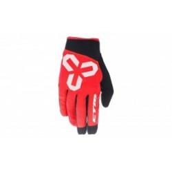 Rukavice CTM VICE - celoprstové, červená, vel. S