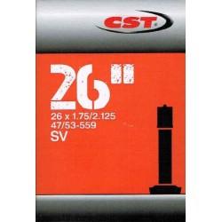 Duše CST 26x1.9/2.125 AV 33mm