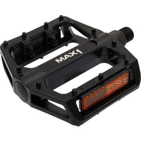 Pedály MAX1 BMX hliníkové, černé s piny