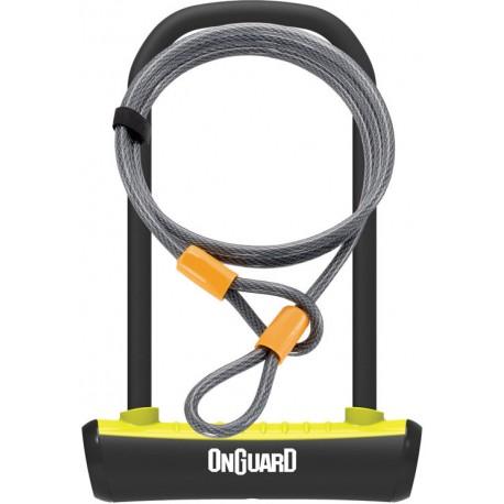 Zámek - podkova ONGUARD 115x230x11 + lanko 1200x10 mm - klíč