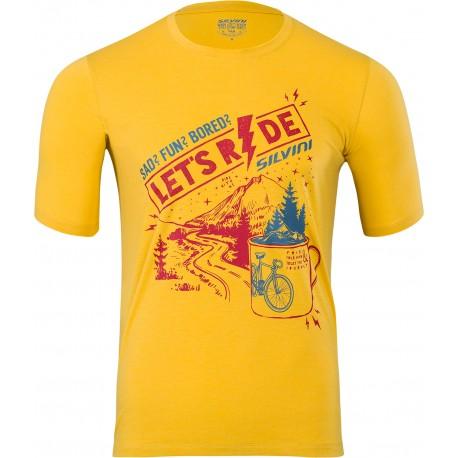 Pánské funkční triko/dres SILVINI Berici yellow-merlot vel. XXL