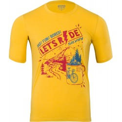 Pánské funkční triko/dres SILVINI Berici yellow-merlot vel. XL