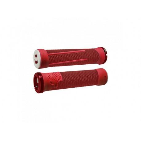 Gripy ODI AG-2 Signature V2.1 bonus pack - červená